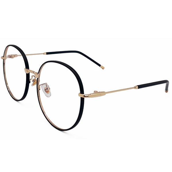 OT SHOP眼鏡框‧韓系復古文青圓框細框金屬裝飾設計鏡框明星穿搭平光眼鏡‧黑框‧現貨‧U50
