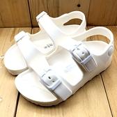 《7+1童鞋》PRIVATE 普萊米  素面  止滑 防水 涼鞋 D194   白色