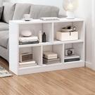 床頭置物架落地白色單元格書架小型省空間兒童繪本架沙發側邊櫃【快速出貨】