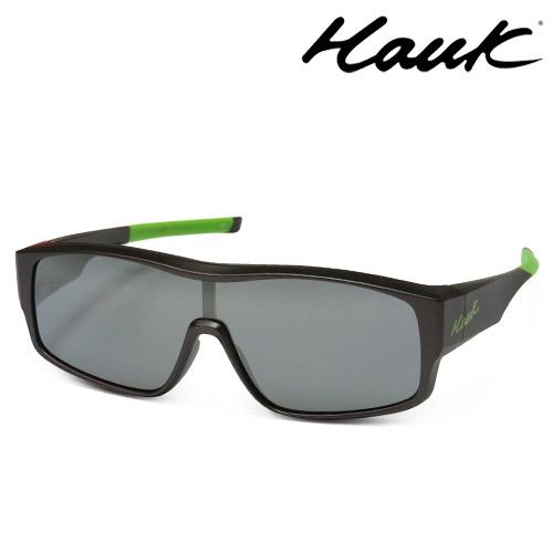 HAWK全片式運動風2用偏光太陽眼鏡 偏光套鏡(眼鏡族專用)HK1020A-49