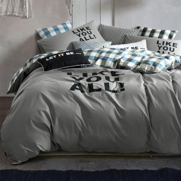 純色簡約全棉四件套棉質學生宿舍單人床品三件套1.8m床單被套床笠jy