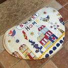 彩繪愛心圖案地墊 馬桶 門墊 腳墊 地毯...