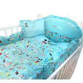 ☆愛兒麗☆【ViVibaby】迪士尼米奇愛旅行七件組寢具(藍)