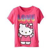 上衣 女童中童小童 女孩LOVE  經典兒童純棉短袖T恤