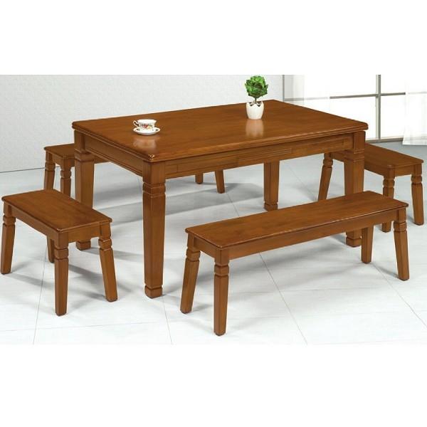 餐桌 PK-552-6 維尼柚木實木3X5尺休閒桌 (不含椅子)【大眾家居舘】