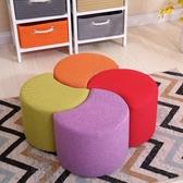 椅子  創意換鞋凳簡約小凳子家用客廳沙發凳時尚坐墩布藝小板凳實木矮凳