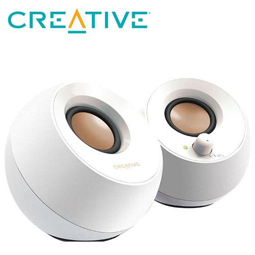 全新CREATIVE Pebble 2.0 USB桌上型喇叭-白 ( MF1680AA001 )