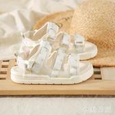 環球小雛菊涼鞋女夏季2020新款百搭仙女風運動魔術貼沙灘平底鞋 KP494『小美日記』
