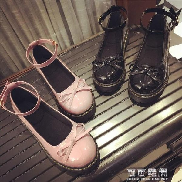 18春季日系娃娃鞋原宿風平底圓頭小皮鞋蝴蝶結女鞋英倫女單鞋 可可鞋櫃
