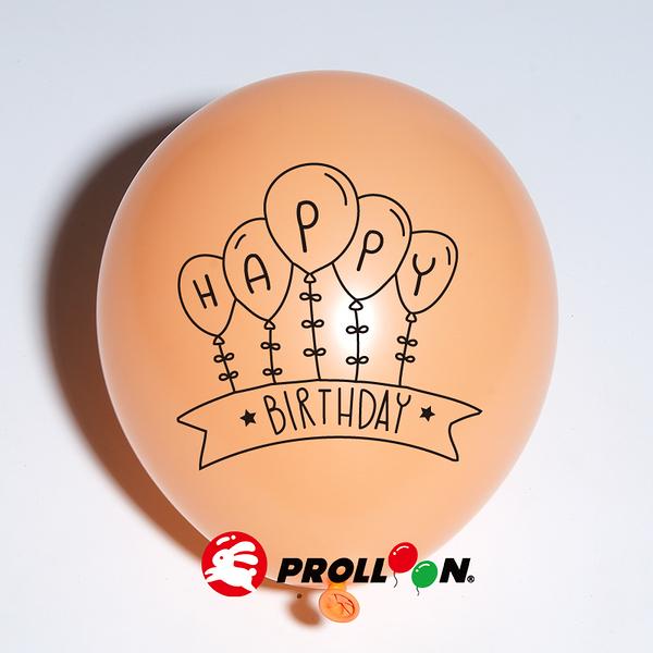【大倫氣球】生日系列印刷氣球-10吋圓形(糖果色) 一面一色印刷氣球 單顆 慶祝生日 Birthday Party