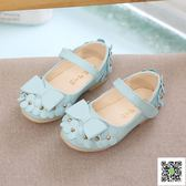 童鞋1周歲半寶寶豆豆鞋公主鞋女童花朵皮鞋小學生女孩單鞋 一件免運