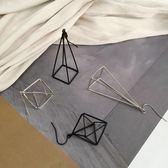 極簡 歐美 立體 幾何 三角形 耳環 耳墜 耳夾 三色005