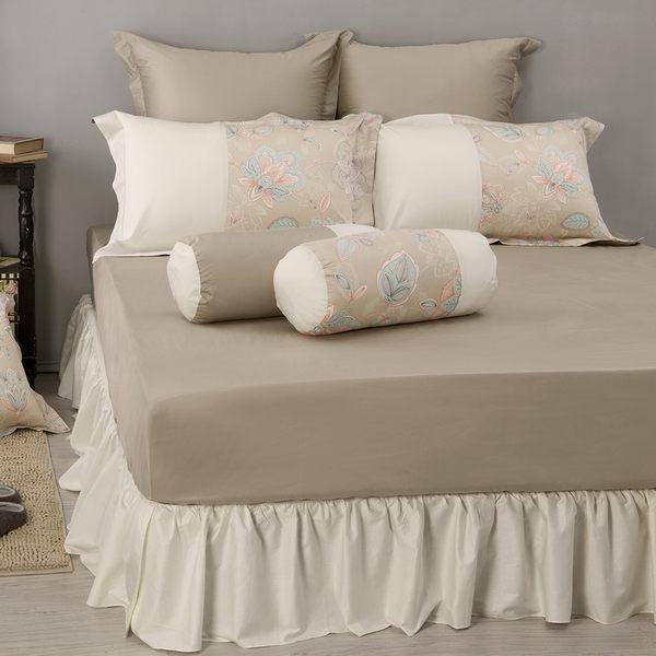 《 60支紗》雙人床包枕套三件組【波隆那 -米花】-麗塔LITA -
