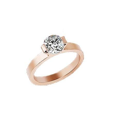 結婚鑽戒鑽石玫瑰金