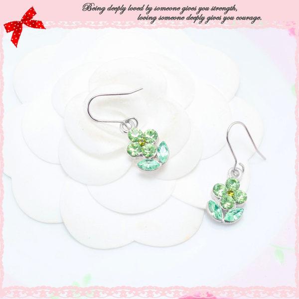 綠動妖精花朵耳環【森林系少女】