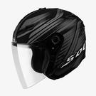 【東門城】SOL SO-1 創(消光黑銀) 半罩安全帽 可拆式下巴