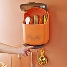 家用帶蓋高檔筷子桶壁掛式餐具瀝水收納盒筷簍廚房筷籠筒置物架 一米陽光