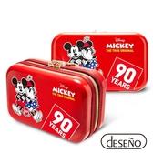 Deseno Disney 迪士尼 米奇系列 90週年 限量 紀念 手拿包 收納盥洗包 化妝包 航空硬殼包 201 愛心紅
