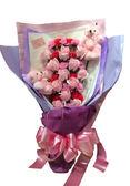 娃娃屋樂園~💐三生三世情玫瑰香皂花花束/母親節花束 每束1800元/婚禮小物/喜糖籃/情人節