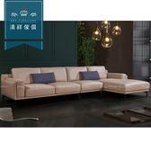 【新竹清祥傢俱】PLS-07LS100-現代時尚牛皮L型沙發 現代 沙發 牛皮 L型 多人 客廳 風格