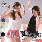 比基尼泳裝-日本品牌AngelLuna 日本直送 簍空蕾絲露背四件式溫泉沙灘泳衣