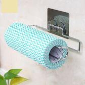 日式捲紙收納架毛巾紙巾架家用廚房用紙衛生紙捲紙架免打孔壁掛式