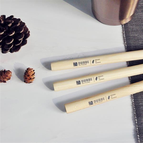 天然木吸管 (粗吸管x3) Natural Wooden Straw【DUBBE】