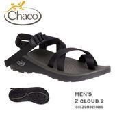 【速捷戶外】美國 Chaco CH-ZLM02H405 越野紓壓運動涼鞋-夾腳 男款(黑色)  Z/CLOUD2,運動涼鞋