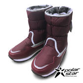 PolarStar 女 保暖雪鞋│雪靴│冰爪『紫紅』P13621 (內厚鋪毛/ 防滑鞋底) 雪地靴.非UGG靴.雪地必備