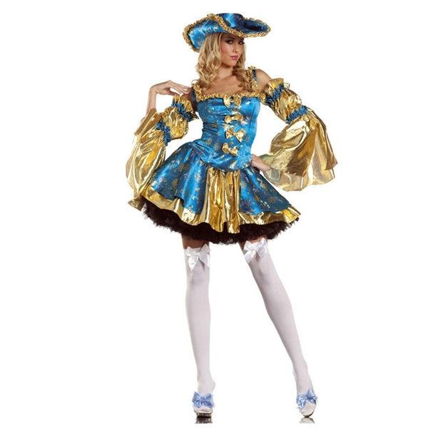 加勒比海盜女王吸血鬼巫女角色扮制服派對COS服 DS演出