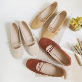 瑪麗珍鞋網紅鞋子女2020春新款復古瑪麗珍平底鞋綁帶仙女溫柔單鞋芭蕾舞鞋 JUST M