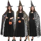 cos服萬聖節服裝女大人成人男兒童斗篷披風彩金女巫巫婆道具套裝 居家物語