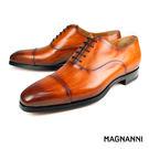 【MAGNANNI】經典橫飾牛津皮鞋 棕色(18235A-CUE)