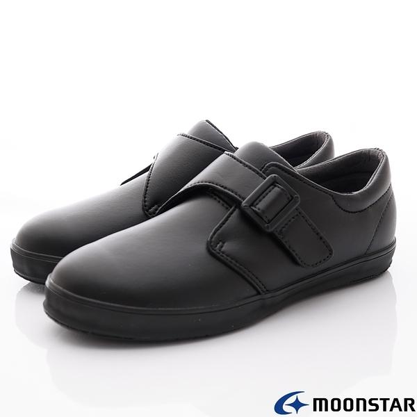 日本Moonstar機能童鞋 日製學生皮鞋-22246黑(中小童段)
