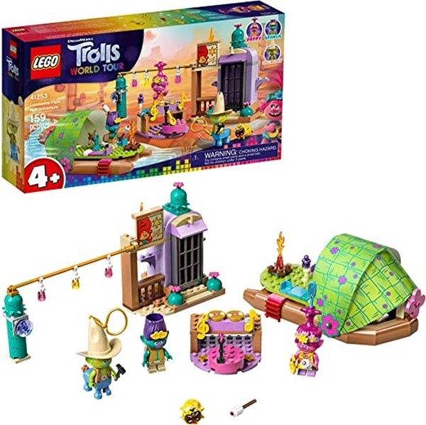 LEGO 樂高 Trolls World Tour Lonesome Flats Raft Adventure 41253 Kids Building Kit (159件)