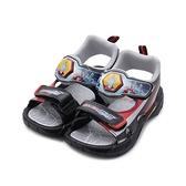超人力霸王 Ultraman 電燈運動涼鞋 黑 UM4604 中大童鞋