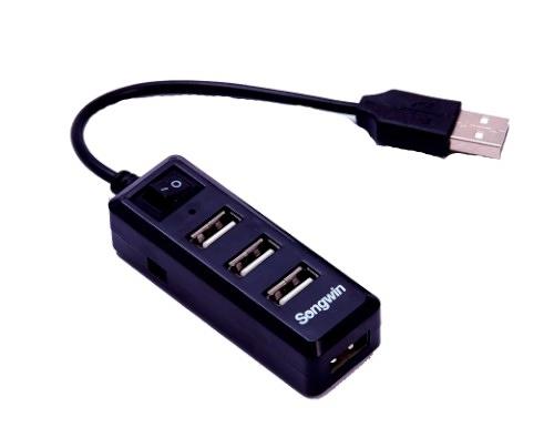 尚之宇 UH-2016BP 獨立式插座 4埠 USB HUB (不挑色隨機出貨)