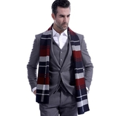 羊毛圍巾-經典百搭格紋色塊秋冬防寒男女披肩3色73ts19【時尚巴黎】