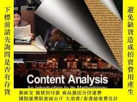 二手書博民逛書店Content罕見Analysis: An Introduction To Its Methodology-內容分
