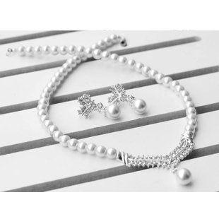 米白色 珍珠套鏈