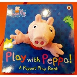 【 粉紅豬小妹。大型手偶書】  PLAY WITH PEPPA