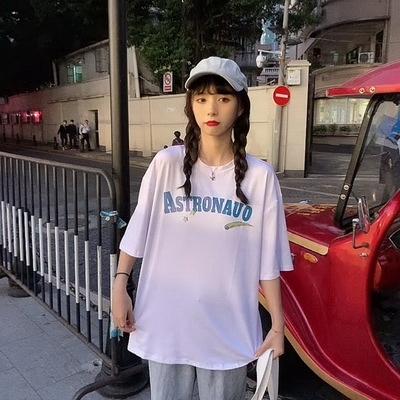 (下殺)彈性棉短袖t恤女中長版【08SG06471】