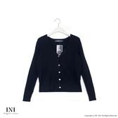 【INI】細膩魅力、基本百搭素色針織外套.黑色