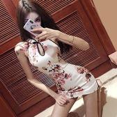 中國風改良旗袍連身裙女春裝2019新款性感女裝日常短款露背包臀裙