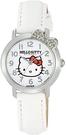 Citizen【日本代購】 凱蒂貓 Hello Kitty 指針顯示皮革錶帶腕錶 白色