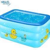 美拉奇嬰兒童充氣游泳池家庭超大型海洋球加厚家用大號成人戲水池