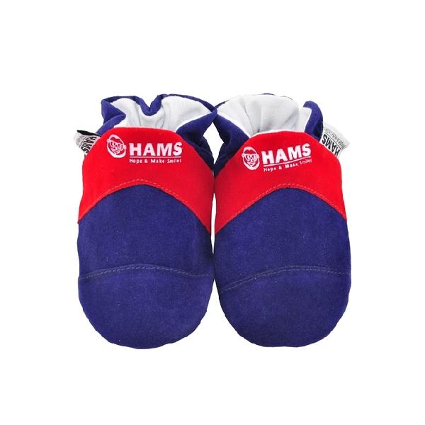 嬰兒學步鞋-HAMS純棉軟底麂皮防滑寶寶鞋-法國
