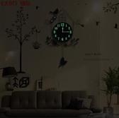 掛鐘 鐘錶歐式掛鐘個性創意現代簡約客廳臥室靜音家用小鳥掛錶石英時鐘jy【全館免運】