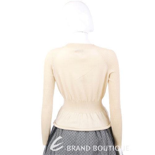 MOSCHINO 米色印花絲巾綁結長袖毛衣 1230461-03