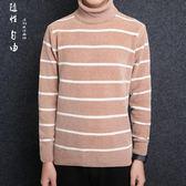 韓版修身高領男士毛衣套頭秋冬打底衫毛線衣男針織衫套頭衫男生毛衣《印象精品》t6578